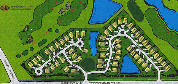 Amen Corner Lot Map in Blaine, Minesota